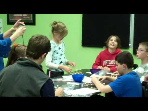 Marshmallow and Toothpick Structure Build Part 1