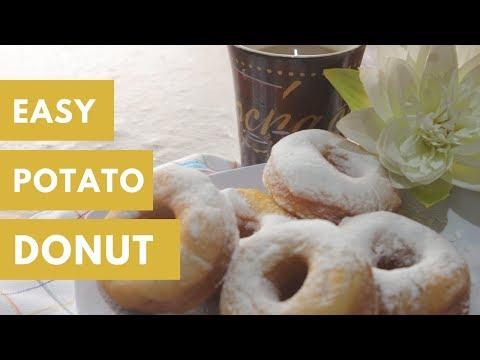 Easy Mashed Potato Donut (Spudnuts Recipe) ||  Resep donat kentang
