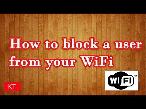 What if you want to block a user from your WiFi