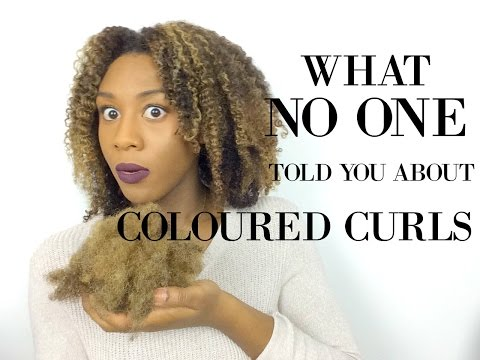 COLOURED CURLS UPDATE | What NO ONE Tells You About Dying Your Hair