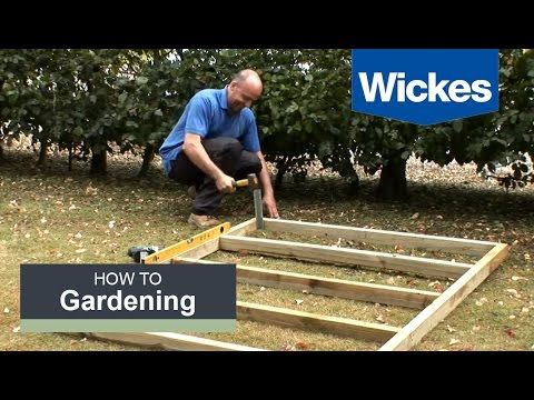 How to Build a Wooden Shed Base with Wickes