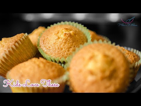 How To Make | 4 Ingredient Cupcakes - Really Easy - By Hiba's Kitchen