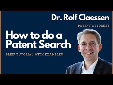 How to do a Patent Search? Brief Patent Search Tutorial - #rolfclaessen