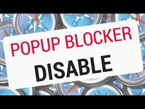 How to DISABLE POP UP BLOCKER SAFARI?