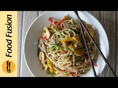 Beef Chow Mein Recipe by Food Fusion
