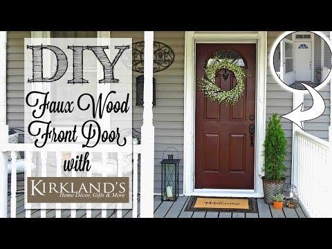 DIY Faux Wood Front Door | Kirkland's Outdoor Collection