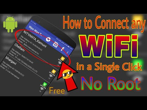 How to Connect any WiFi without knowing it's password in just one click in Android (No Root 2017)