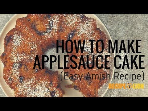 How to Make Applesauce Cake (Amish Recipe)