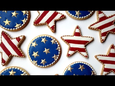 How To Decorate Fourth of July Cookies With Royal Icing!