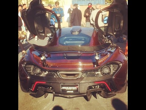 Mclaren p1 carbon series startup, drive, exhaust sound