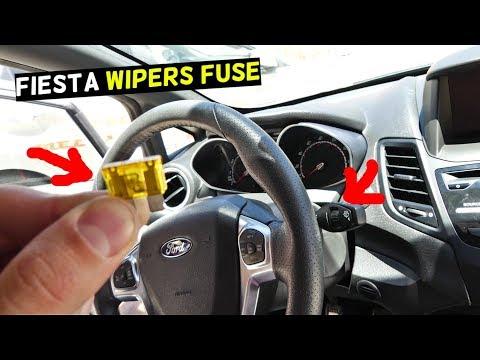 FORD FIESTA WINDSHIELD WIPERS FUSE MK7 ST