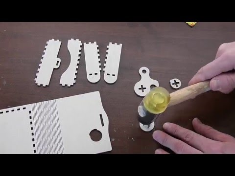 How to assemble Wooden box with rotary latch. Type A