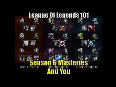 LOL 101: Season 6 Masteries And You