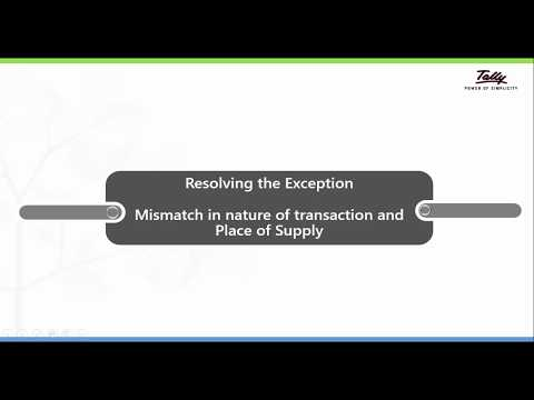How to resolve the Exception - Mismatch in nature of transaction and place of supply