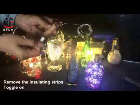 Button Battery Powered Cork Copper Wire String Light for Bottle DIY Christmas Wedding Party Cafe Bar