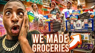 WE WENT GROCERY SHOPPING FOR OUR NEW HOUSE!