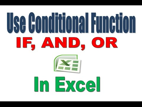 How to Use Conditional Function in Excel