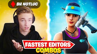 Ranking The TOP 10 FASTEST EDITORS Skin Combos! (Ryft, BH NotLuc, Raider464)