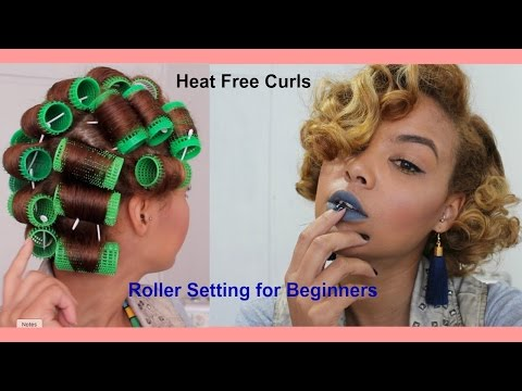 Heatless Curls | Roller setting for beginners | Exciting Announcement