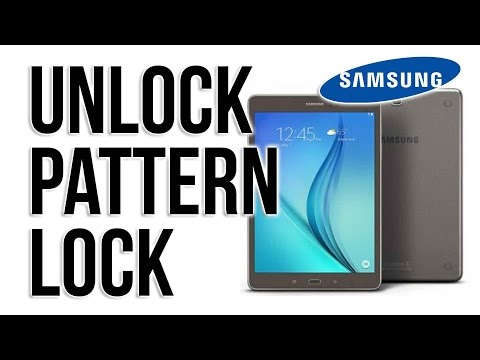 Samsung Galaxy Tab 2- How to remove pattern lock by hard reset TAB A, TAB E, TAB S 4, (Delete Data)
