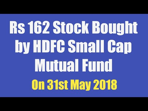 Rs 162 Stock Bought by HDFC Small Cap Mutual Fund on 31st May 2018 - NRB Bearings Ltd Review
