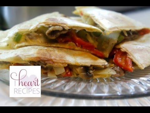 Philly Cheesesteak Quesadillas Recipe - Super Bowl Recipe - I Heart Recipes
