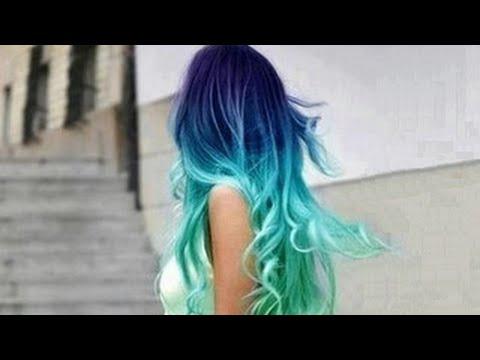 Blue & Light Blue Color Melt Ombre  Extensions --- KristenLeanneStyle