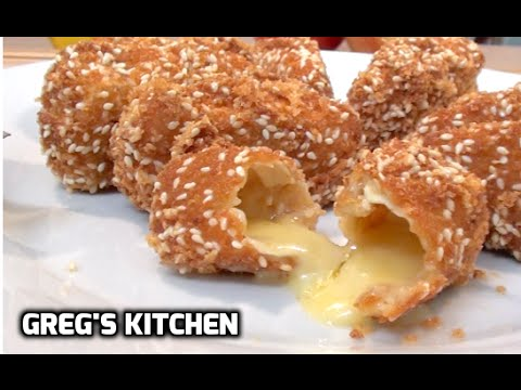 HOW TO MAKE FRIED CAMEMBERT CHEESE SNACKS - Greg's Kitchen