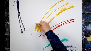 Colorful Abstract Painting Demonstration | Relaxing | Miro