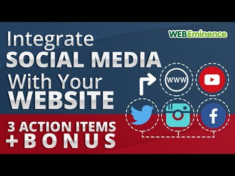 Integrate Social Media With YOUR Website - 3 ACTION Items + Bonus