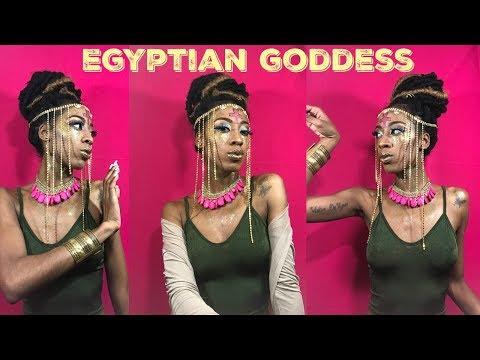 GOLDEN EGYPTIAN GODDESS/HAPPY HALLOWEEN