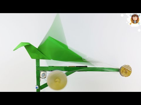 How to Make an Origami Flapping Bird - (Origami / Robot)