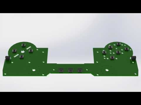Universal Game Controller PCB Animation