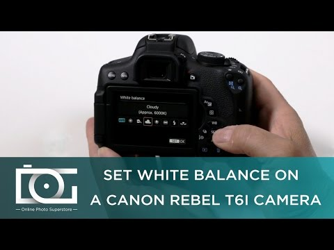 TUTORIAL | How to Set White Balance on A CANON Rebel T6i Camera