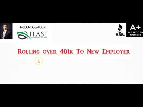 Roll Over 401k to New Employer - Should I Roll Over 401k to New Employer