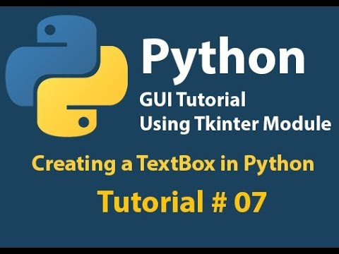 Python GUI: How to create TextBox in Python using Tkinter tutorial# 7