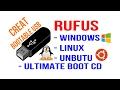 Creating bootable USB by using RUFUS - Windows XP, 7, 8, 8.1, 10, Linux, Unbutu, Slackware
