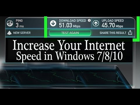 How to Increase Your Internet Speed in Windows 7/8/10  Boost internet speed up to 10 X