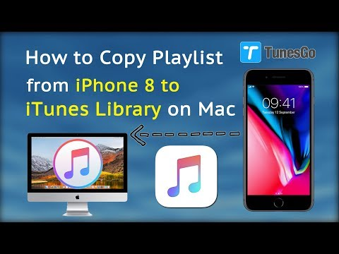 How to Copy Playlist from iPhone 8 to iTunes Library on Mac