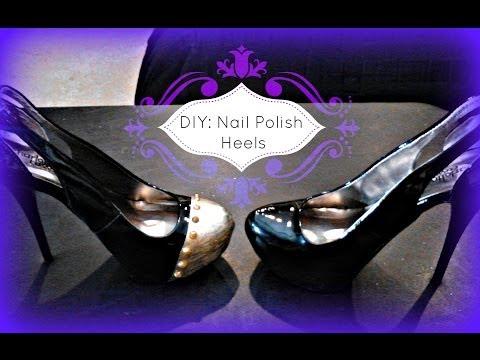 FASHION DIY: Shoe Painting Using Nail Polish! High Heels...