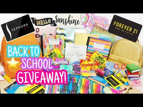 HUGE BACK TO SCHOOL GIVEAWAY + GIFT CARDS FOR 3 WINNERS! (CLOSED)