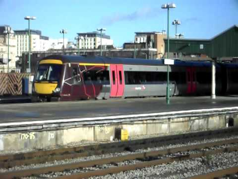 170110 arrives at cardiff cenral with a service to nottingham