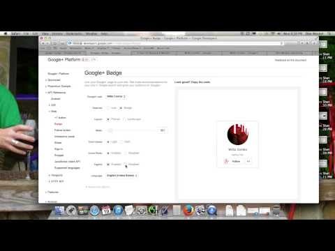 How To Add Google Plus Button Badge On Your Website