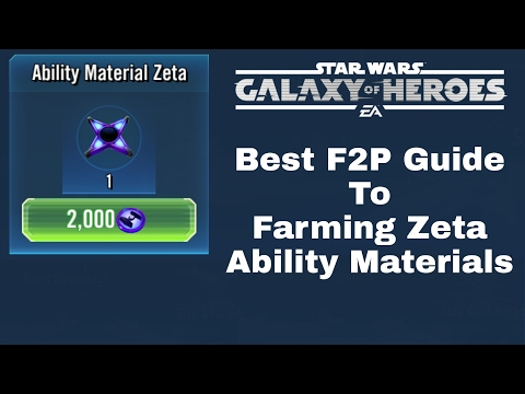 Star Wars Galaxy Of Heroes Best F2P Guide To Farming Zeta Ability Materials