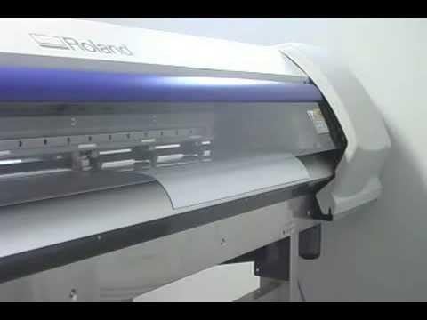 Printing Magnum Magnetics DigiMag VINYL magnet on a Roland SP-540V solvent inkjet printer