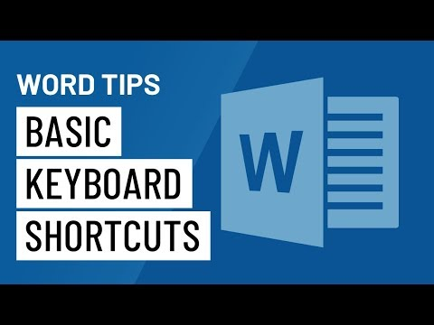 Word Quick Tips: Basic Keyboard Shortcuts