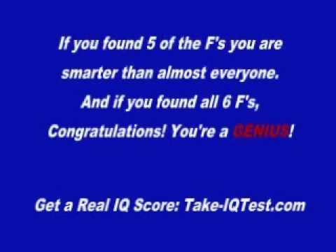 10 Second Quick IQ Test 2010