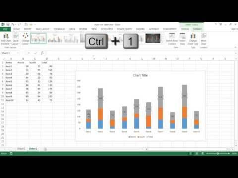 Create a Combination Chart with a Totals Label