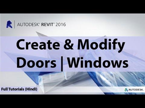 07 - How To Create & Modify Doors & Windows In Autodesk Revit In | Hindi | Urdu |