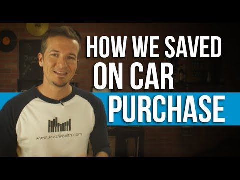 How we saved buying our latest car.